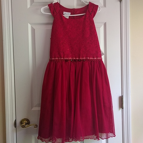7986f68e82f Red dress girls plus size. NWT. Bonnie Jean